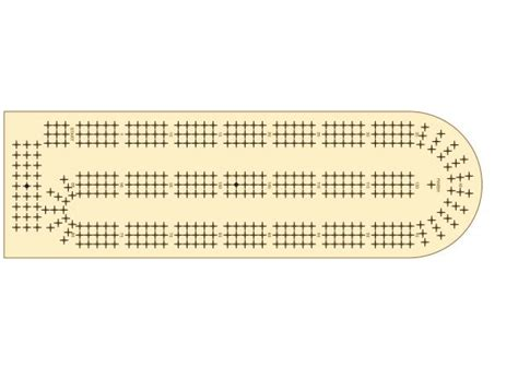 Printable Cribbage Board Template free cribbage board template