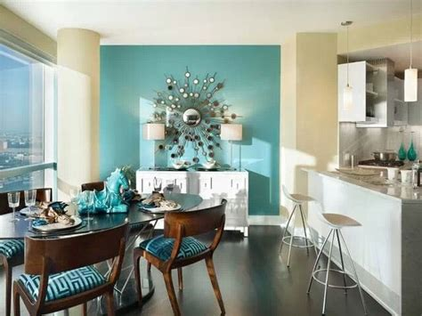 blue accent wall living room slightly lighter our