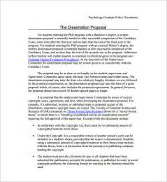 Dissertation Proposal Dissertation Proposal Template 14 Free Sample Example