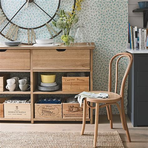 display and storage in a living dining room small