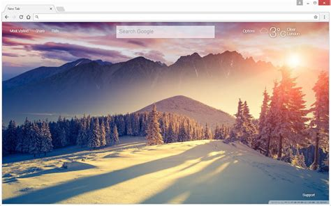 themes hd new winter snow wallpapers hd new tab themes free addons