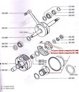 diagram reference t5a tomos a35 a55 transmission clutches