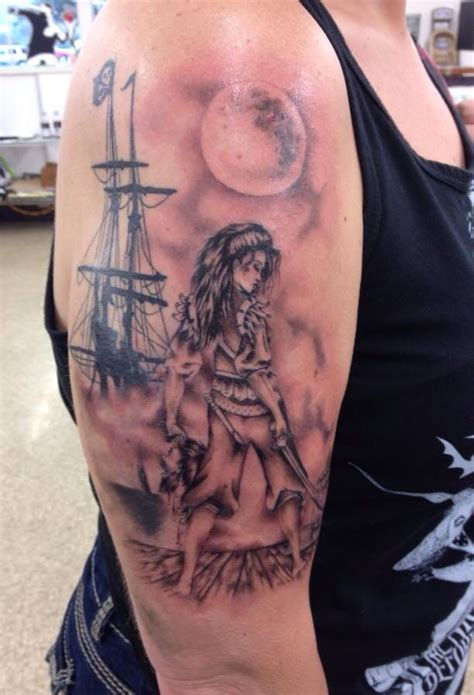 pirate tattoo i got finished today tattoo amp art