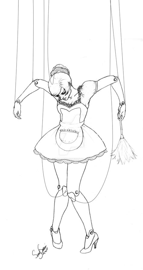 marionette layout view template drawn dall marionette pencil and in color drawn dall