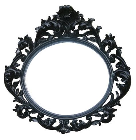 black decorative wall oval mirror mirror company - Black Decorative Wall Mirror