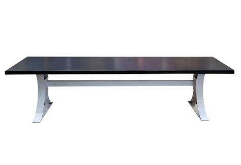 Metal Hourglass And Concrete Top Dining Table Mecox Gardens Metal Dining Table