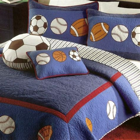 sports theme bedding boys sports quilt