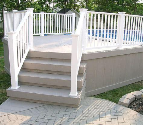 vinyl pool fence deck railing pool area fences