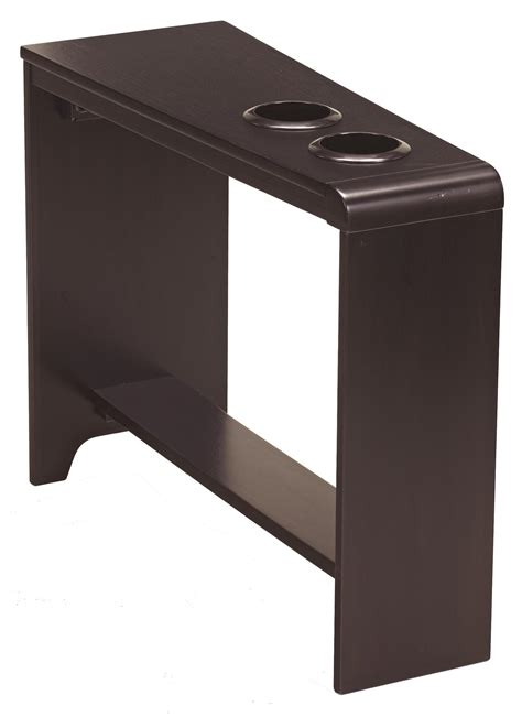 side table with usb port signature design by carlyle chair side end table