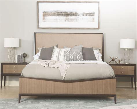 urban bedroom furniture urban rhythm milk and dark chocolate upholstered bedroom