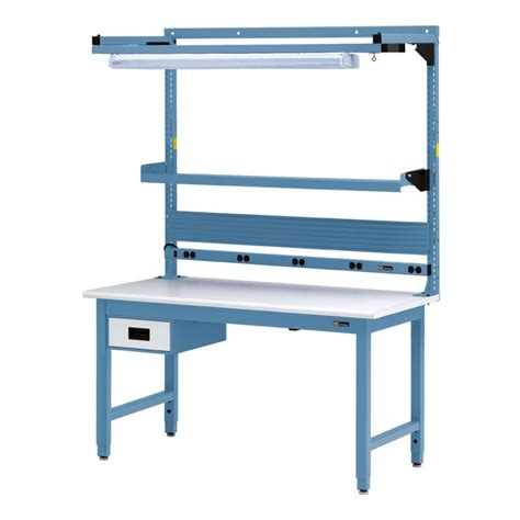 Benches Tables Iac Iac Workbench W 6 Drawer Electrical Shelf Light 30