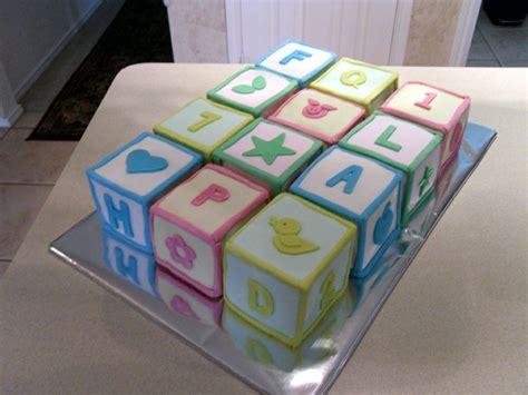 Baby Blocks Cake   My Fondant Cake Designs   Pinterest