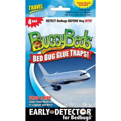bed bug traps home depot buggybeds travel pack bed bug glue trap 4 pack 40480