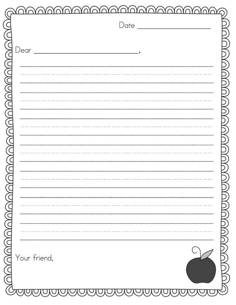Sle Of A Friendly Letter For 2nd Grade Friendly Letter Writing Rubric For 2nd Gradefriendly Elementary Letter Template