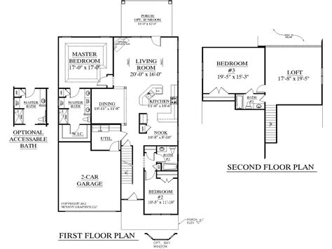 House Plan With Loft by Simple 3 Bedroom House Plans 3 Bedroom House Plans With