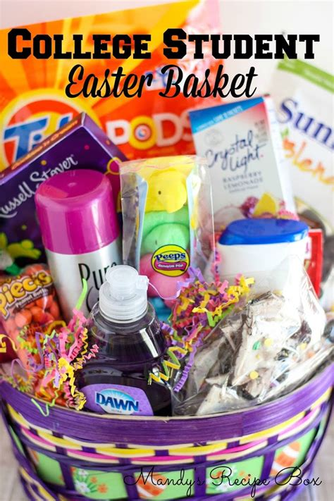 gift baskets for college students college student easter basket mandy s recipe box