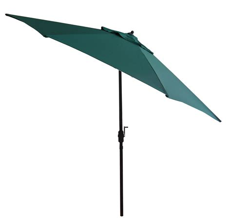 Green Patio Umbrella 11 Foot Green Commercial Patio Umbrella With Auto Tilt