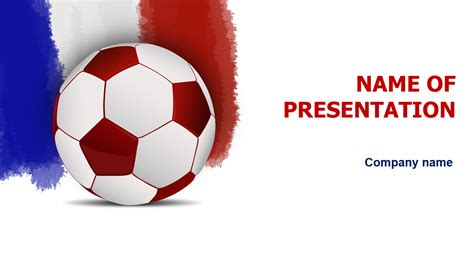 France Football Game Powerpoint Template For Impressive Presentation Free Download Football Powerpoint Templates