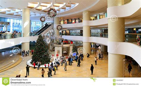 Shopping Centre Christmas Decorations - christmas decoration in shopping mall editorial photography image 35430997