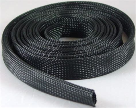wire sleeve braided expandable wire sleeving 1 2 quot 10 ft roll black