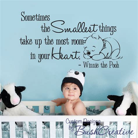 winnie the pooh wall decals for nursery wall decal winnie the pooh nursery wall words by bushcreative