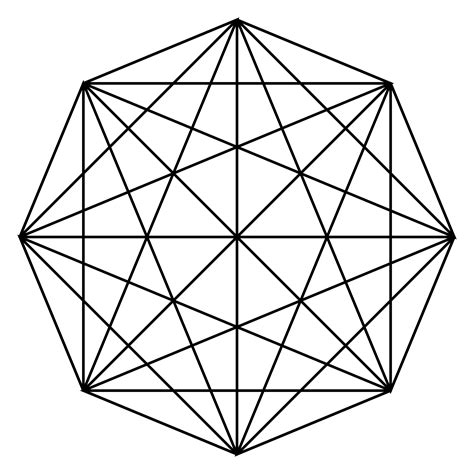 mathematical pattern png clipart octagon connections