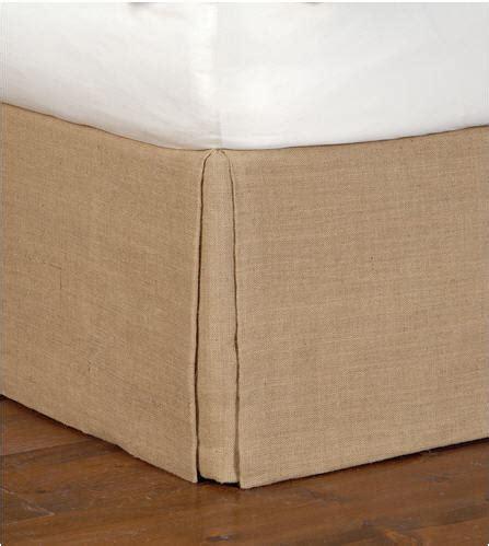 burlap bed skirt burlap bed skirts dust ruffles custom drop length j