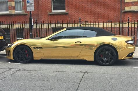 gold maserati learner drives gold plated maserati gaskings