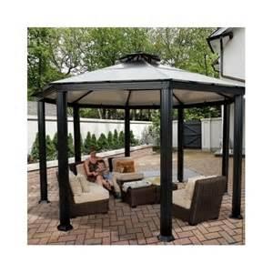 Metal Roof Canopy Gazebo by Hardtop Canopy Gazebo Pergola Aluminum Outdoor Patio Metal