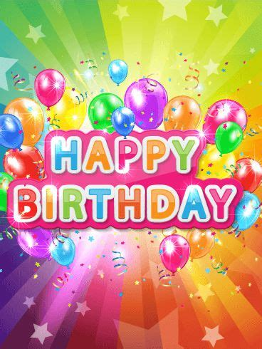 Super Colorful by Super Colorful Happy Birthday Card Today Is Your Birthday