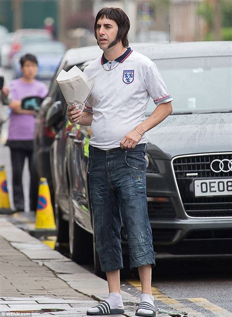 sacha baron cohen simon baron cohen sacha baron cohen sports england shirt to film new grimsby