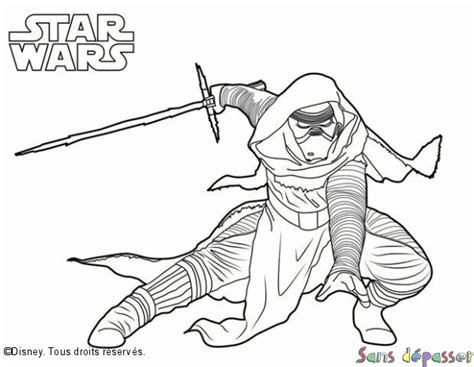 kylo ren and the first order stormtroopers coloring page coloriage kylo ren sans d 233 passer