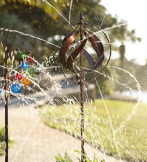 hydro ball wind spinner garden sprinkler  green head