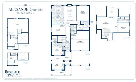 Rosedale Village Bungaloft House Plans