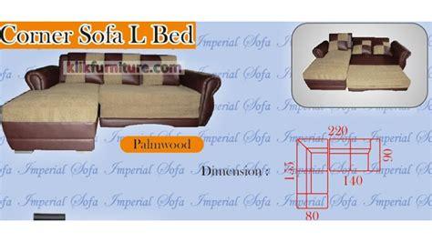 Jual Sofa Bed L jual sofa l bed palmwood imperial harga promo