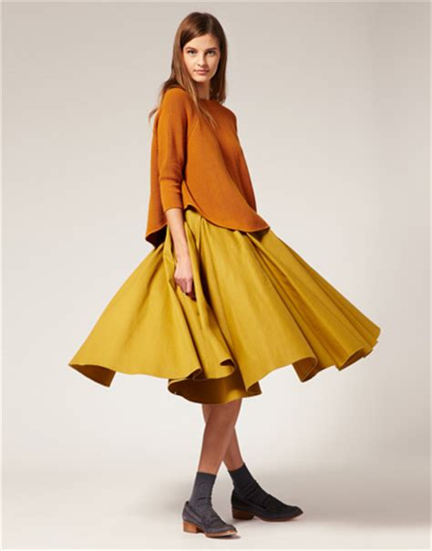 8 Skirts To Fall For by Asos White Calf Length Midi Skirt 8 Skirts To Fall