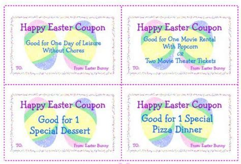 easter gift card template easter gift certificate templates happy easter 2018