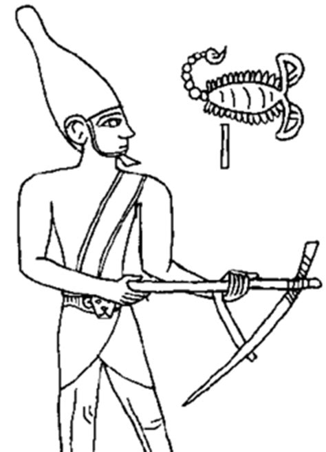 scorpion king coloring page scorpion and narmer kings ancient egypt facts