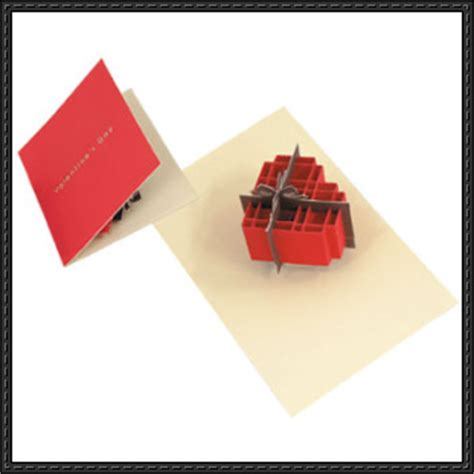 Gift Box Pop Up Card Template by Canon Papercraft S Day Box Pop Up Card