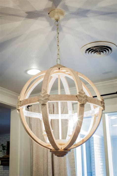 breakfast nook chandelier fixer wooden chandelier hangs in breakfast nook hgtv