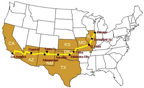 map of the united states route 66 route66 road trip directions