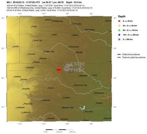 earthquake oklahoma 5 1 magnitude earthquake oklahoma 2016 02 13 6 mag