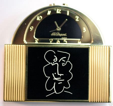 picasso paintings clock dupontcollector picasso 1997 st dupont limited