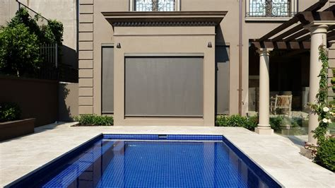 external blinds and awnings melbourne outdoor retractable roller blinds melbourne screentex photos