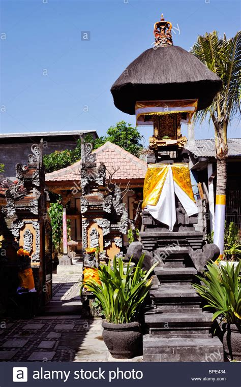 buy house in bali temple in grounds of private house in bali indonesia stock photo royalty free image