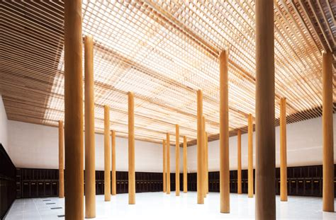 timber architecture furumori koichi s celestial temple extension marries