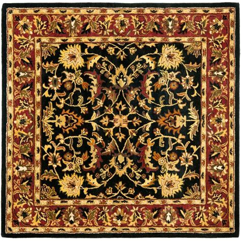 Square Carpets Rugs by Safavieh Heritage Black 8 Ft X 8 Ft Square Area Rug