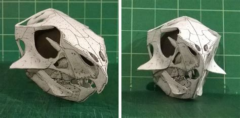 Paper Craft Skull - diy dinosaurs sauropod vertebra picture of the week