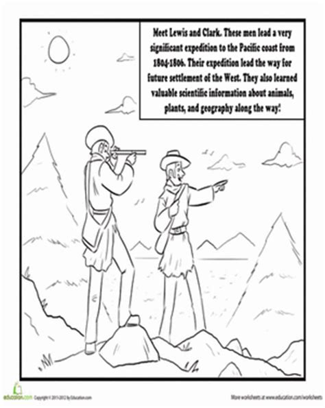 lewis and clark worksheet education com