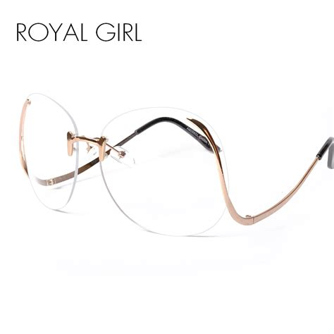 royal 2017 new unique eyeglasses rimless frames